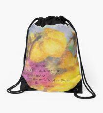The Last Rose of Summer Drawstring Bag