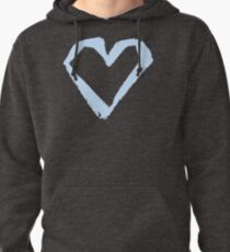 Heart Ink Dry Brush by Hand Pullover Hoodie