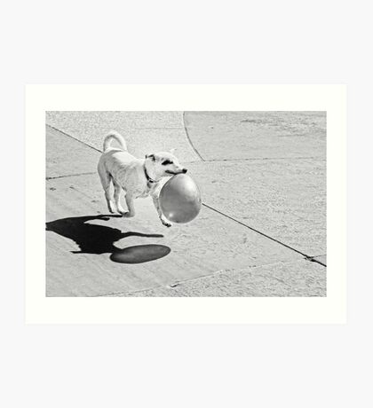 Happy Party Dog Art Print