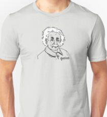 Genius Albert Einstein Hand Drawn Illustration Unisex T-Shirt