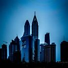 Financial District at Dusk - Dubai - UAE by Yannik Hay