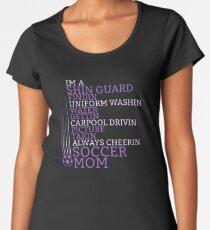Super soccer mom shirt world cup funny quote design Women's Premium T-Shirt