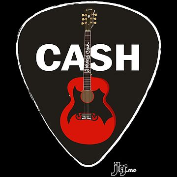 Cash Guitar and Pick by jlgrcreations05