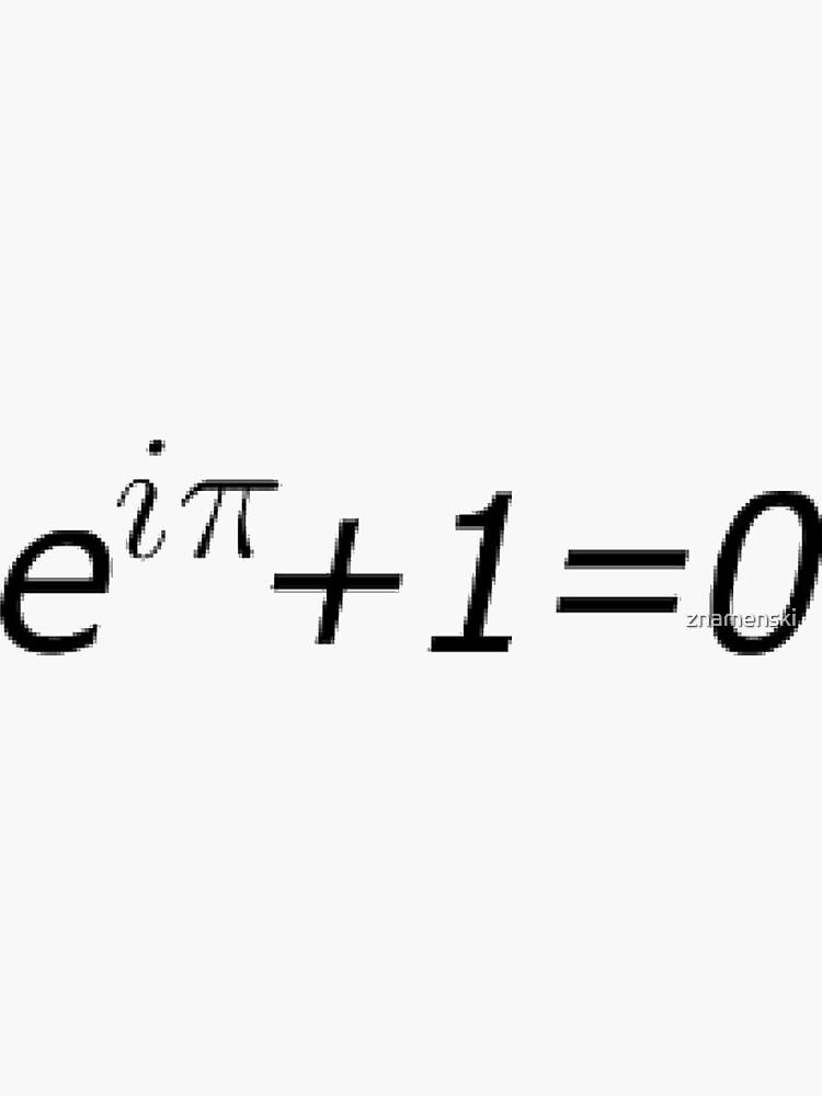 #Euler's #Identity, #Math, Mathematics, Science, formula, equation, #EulersIdentity by znamenski