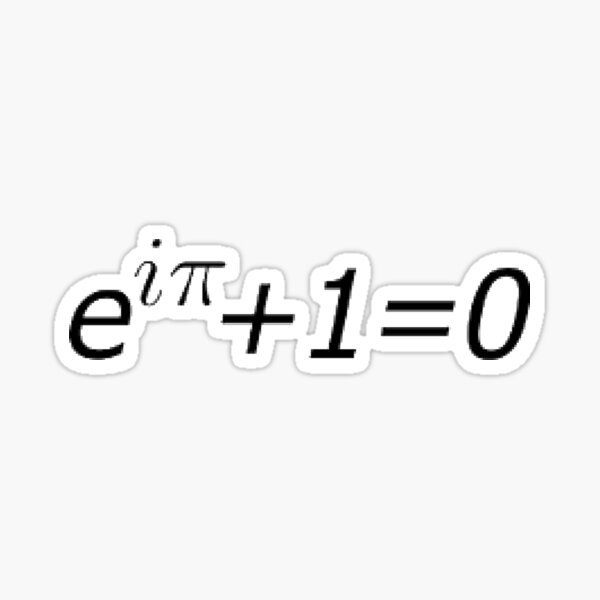 Mathematics, #Euler's #Identity, #Math, Mathematics, Science, formula, equation, #EulersIdentity Sticker