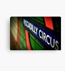 Piccadilly Circus Line Canvas Print