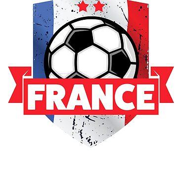 France Soccer Flag 2018 Fan Gift Shirt mens womens kids by worksaheart