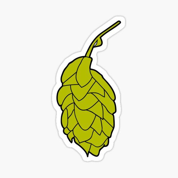 Craft Beer Hops Cone Sticker