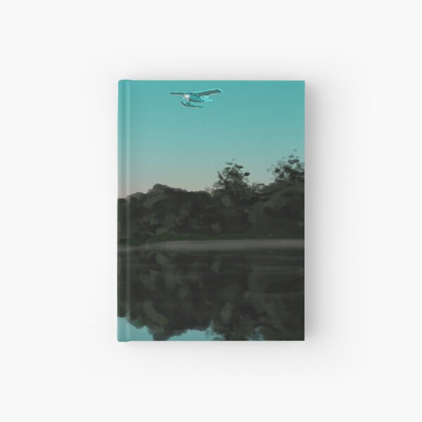 Flight Over Still Minnesota Lake Hardcover Journal