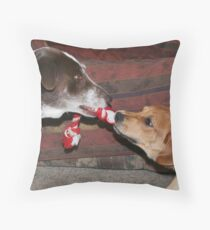 Dogs at play 2 Throw Pillow