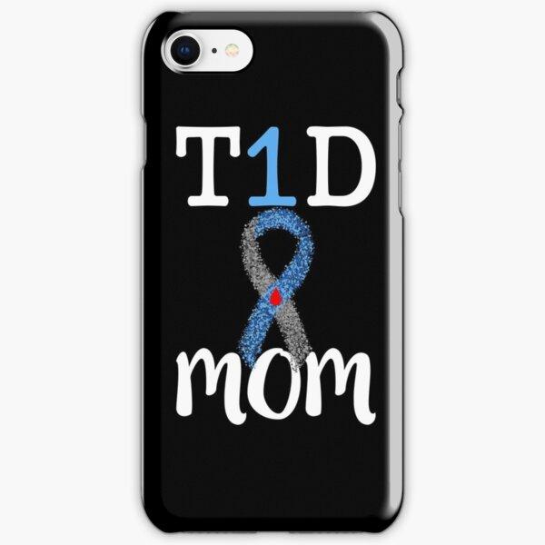 T1D Shirt Type 1 Diabetes Mom T-shirt womens gift iPhone Snap Case