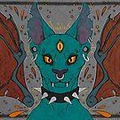 Three eyed punk cat by HidingMonster