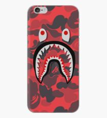 Roter Bape Shark iPhone-Hülle & Cover