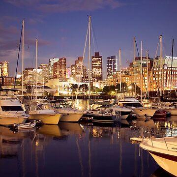Boston Harbor by pennyschiereck