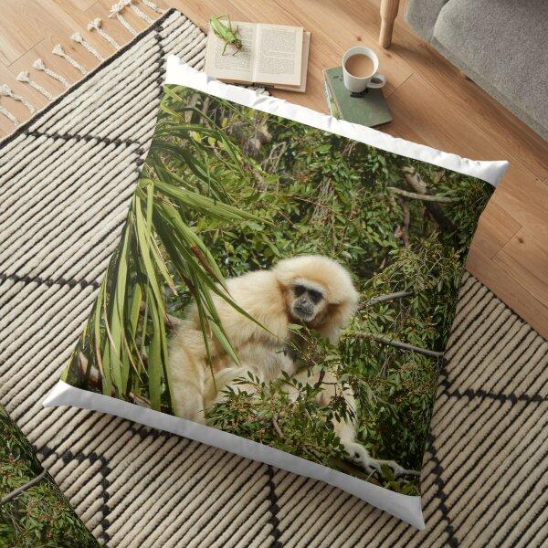 White Handed Gibbon 003 Floor Pillow