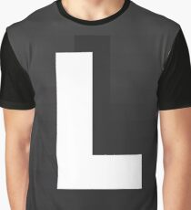 #L, #black, #white, #chess, #checkered, #pattern, #abstract, #flag, #board Graphic T-Shirt