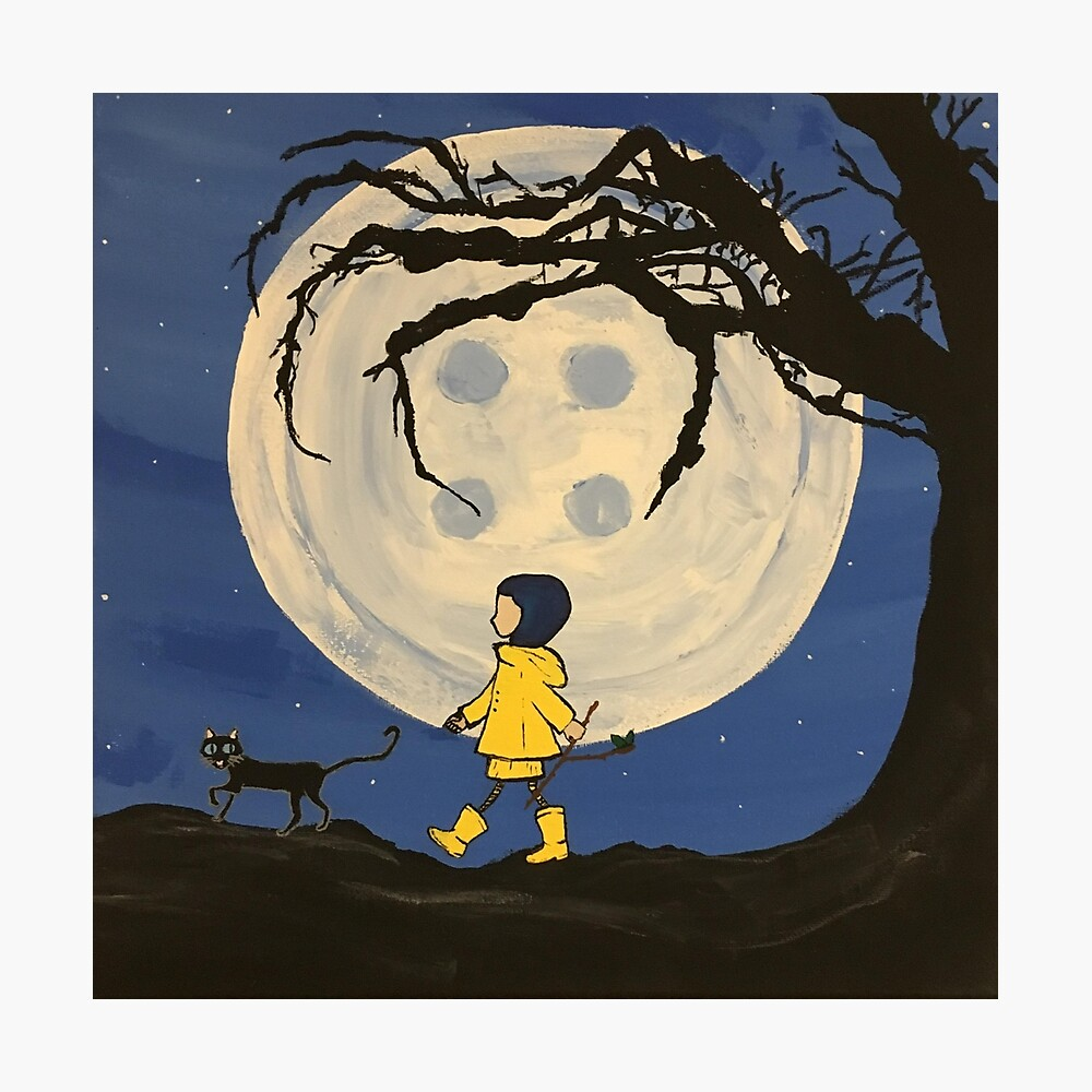 Coraline Button Moon Photographic Print