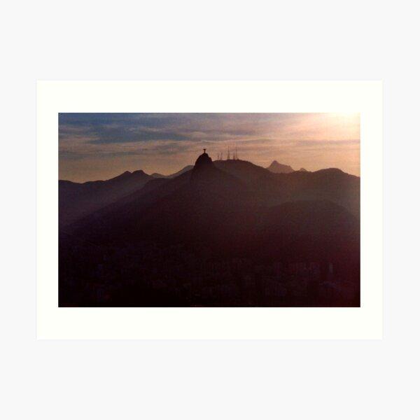 Sunset in Rio Art Print