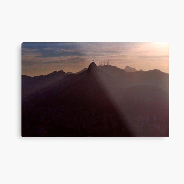 Sunset in Rio Metal Print