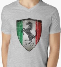 ferrari Men's V-Neck T-Shirt