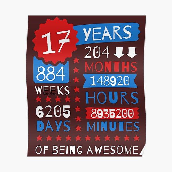 17 años de ser impresionante - Ideas de regalo de cumpleaños 17 espléndidas Póster