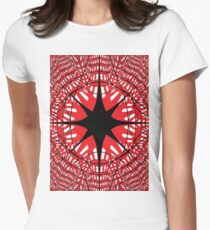 #abstract, #star, #christmas, #pattern, #design, #light, #decoration, #holiday, #blue, #illustration, #black, #white, #chess, #checkered, #pattern, #abstract, #flag, #board Women's Fitted T-Shirt
