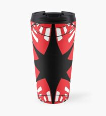 #abstract, #star, #christmas, #pattern, #design, #light, #decoration, #holiday, #blue, #illustration, #black, #white, #chess, #checkered, #pattern, #abstract, #flag, #board Travel Mug