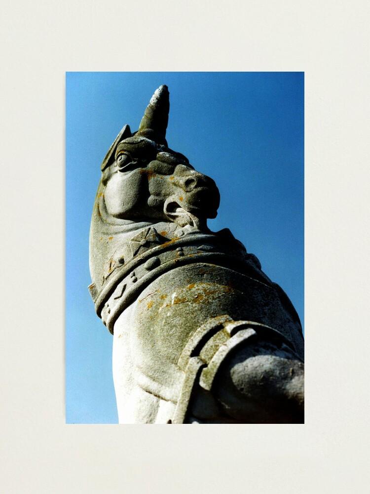 Alternate view of Unicorn at Kew Photographic Print