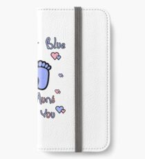 pink or blue aunt loves you gender reveal party gift idea iPhone Wallet/Case/Skin