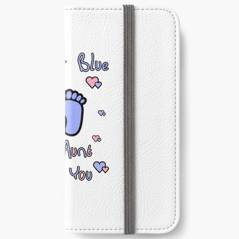 pink or blue aunt loves you gender reveal party gift idea iPhone Wallet
