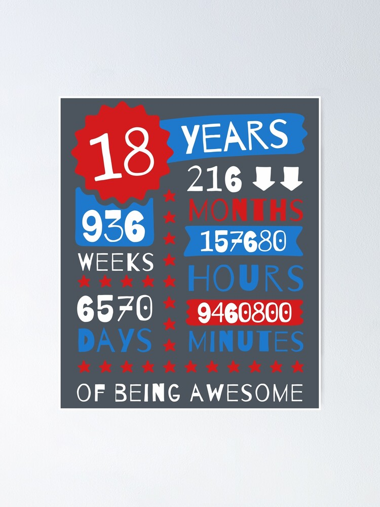 Made In 2001-18 Years Of Being Awesome Mens Funny 18th Birthday Hoodie