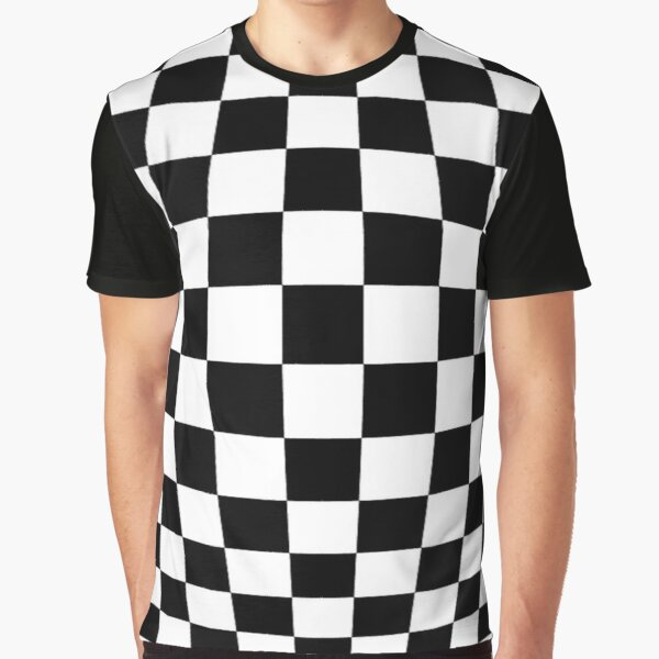 #black, #white, #chess, #checkered, #pattern, #flag, #board, #abstract, #chessboard, #checker, #square, #floor Graphic T-Shirt