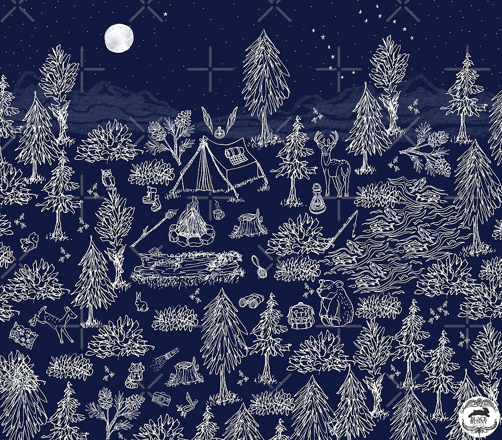 Camping Under the Moonlight by tinaschofield