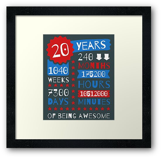 20th Birthday Gift Ideas 20 Years Of Being Awesome