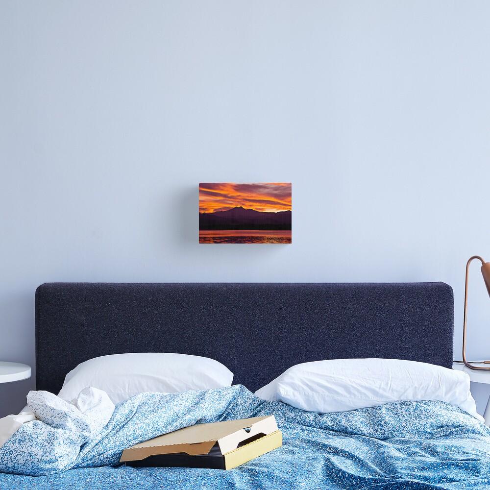 Twins Peak Sunset Canvas Print