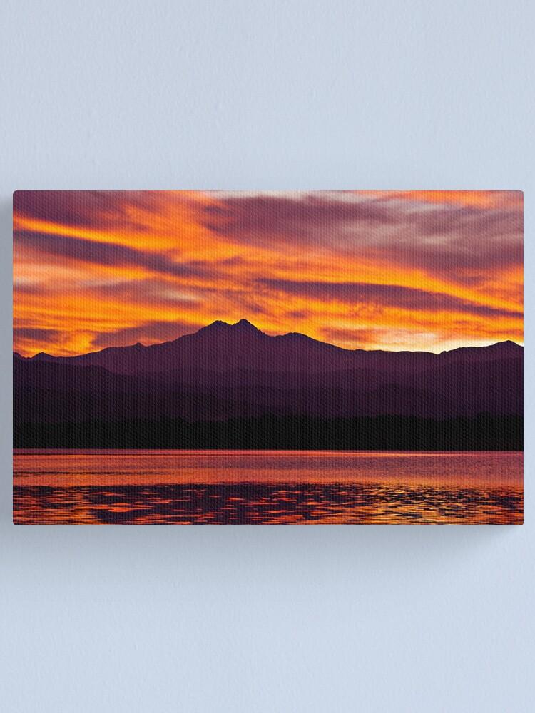 Alternate view of Twins Peak Sunset Canvas Print