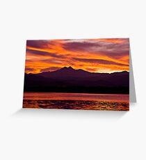 Twins Peak Sunset Greeting Card