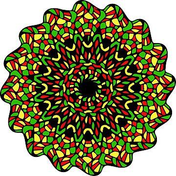 Rasta Mandala by cartoonblog