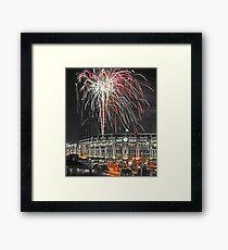 Gothic Fireworks Framed Print