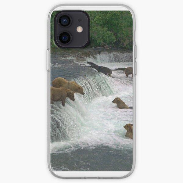 Brown Bears, Brooks Falls, Brooks River, Katmai National Park, Alaska iPhone Soft Case