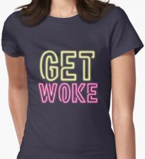 Get Woke Women's Fitted T-Shirt