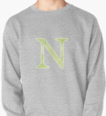Lime Watercolor Ν Pullover Sweatshirt