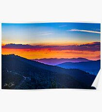 Sunset in Bright Poster