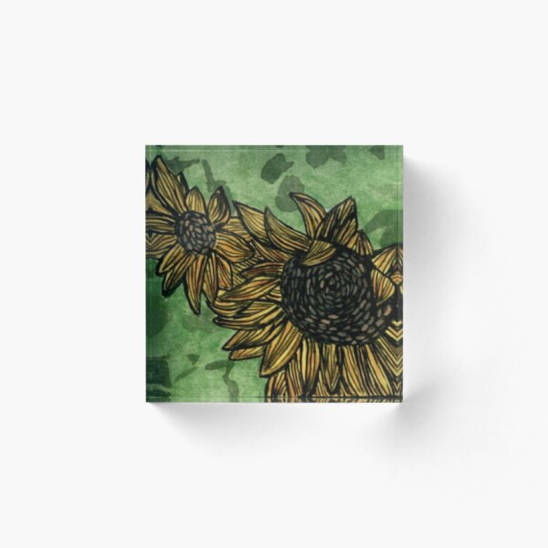 Sunflower Summers  Acrylic Block