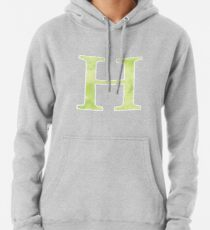 Lime Watercolor Η Pullover Hoodie