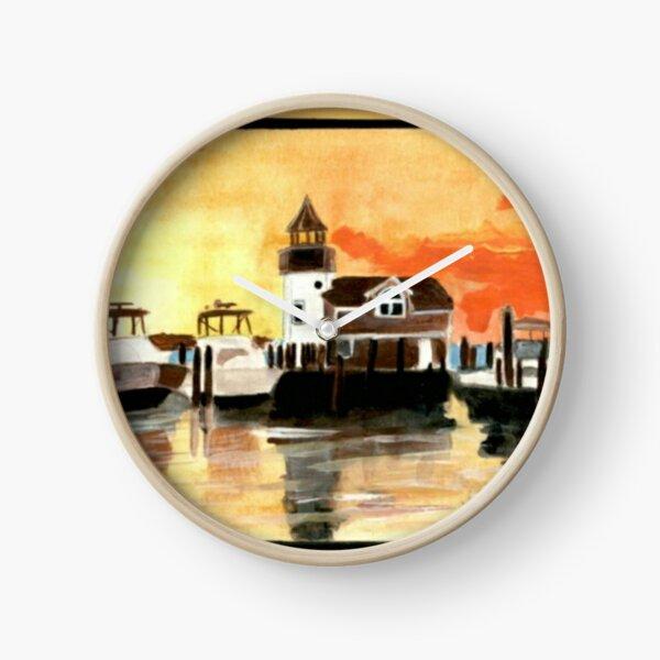 Maritime Dusk   Clock