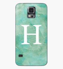 Emerald Watercolor Η Case/Skin for Samsung Galaxy