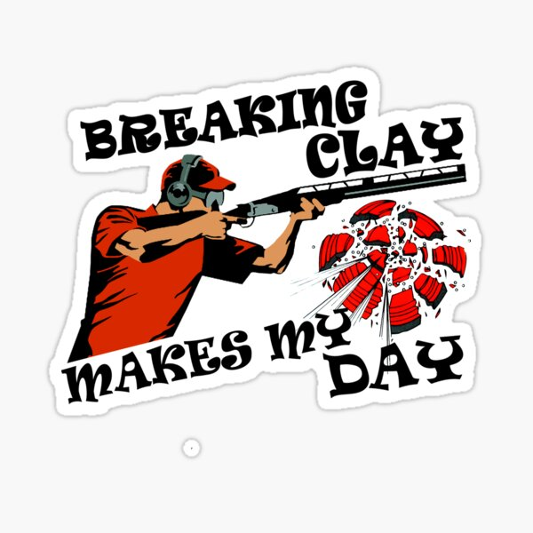 clay pigeon trap shooting for skeet shooting fans Sticker