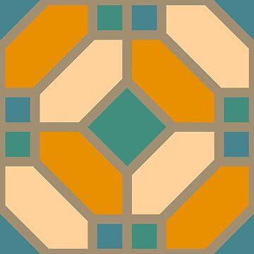 Geometric Pattern: Art Deco Tile: Lily by redwolfoz