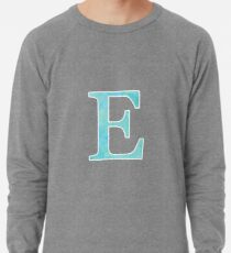 Teal Watercolor Ε Lightweight Sweatshirt